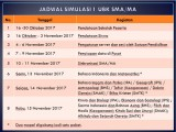 Jadwal Simulasi 1 UBK SMA/MA